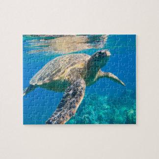 De zwemmende Schildpad van het Zee Legpuzzel