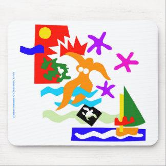 De zwemmer van de zomer - Mousepad Muismatten