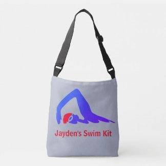 De zwemmer van het vrije slag, zwemt crossbody tas