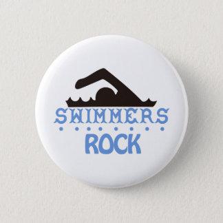 De zwemmers schommelen ronde button 5,7 cm