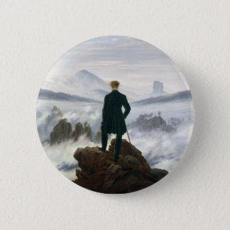 De zwerver boven het Zee van Mist Ronde Button 5,7 Cm
