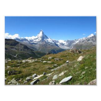 De Zwitserse Alpen van Matterhorn, de Druk van de Foto Afdrukken