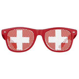 De Zwitserse Glazen van het Deel van de Vlag Retro Zonnebril
