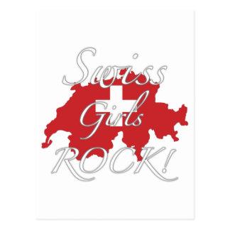 De Zwitserse Meisjes schommelen! Briefkaart