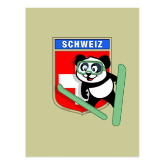 De Zwitserse Panda van Schansspringen Briefkaart