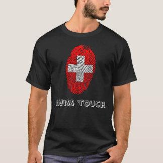 De Zwitserse vlag van de aanrakingsvingerafdruk T Shirt