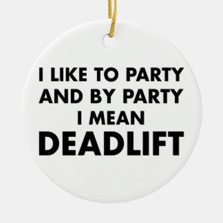 Deadlift Rond Keramisch Ornament