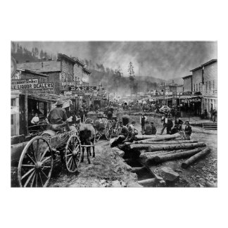 DEADWOOD ZUID-DAKOTA IN 1876 POSTER