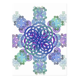 Decoratief Keltisch ontwerp Briefkaart