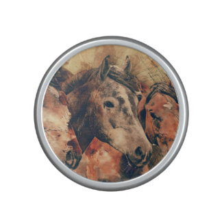 Decoratief Schilderen van de Waterverf van paarden Bluetooth Luidspreker