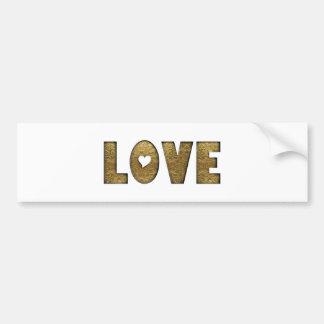 Decoratief van Word van de Tekst van de liefde Bumpersticker