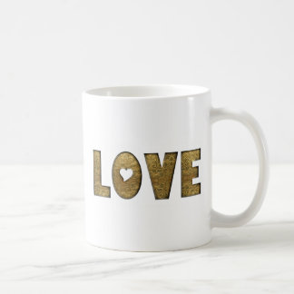 Decoratief van Word van de Tekst van de liefde Koffiemok