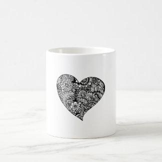 Decoratief Zwart Hart Koffiemok