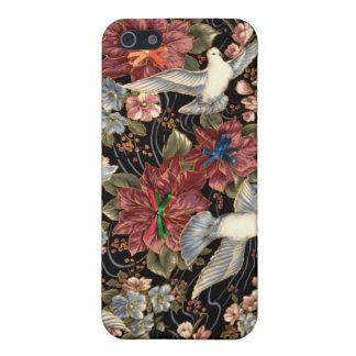 Decoratieve Bloemen en Duiven iPhone 5 Case