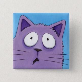 Deed iemand zeggen B-BAD?! De Knoop van de kat Vierkante Button 5,1 Cm