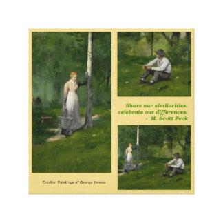 Deel en vier canvas afdrukken