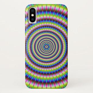 Deeltjes en Golven met BloemenMotief iPhone X Hoesje