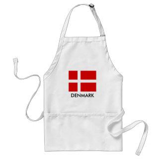 Deense vlagBBQ keukenschort voor man en vrouwen Standaard Schort