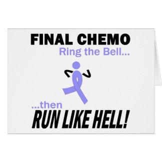 Definitieve Chemo loopt zeer - het Lint van de Wenskaart