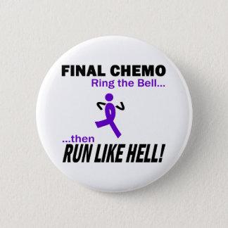 Definitieve Chemo loopt zeer - Violet Lint Ronde Button 5,7 Cm