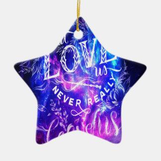 Degenen die van ons Violetkleurige Dromen houden Keramisch Ster Ornament