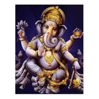 Deity van de Olifant van Ganesha Hindoese India Briefkaart