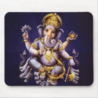 Deity van de Olifant van Ganesha Hindoese India Muismatten
