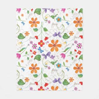 Deken van de de drukvacht van Fleurs de bloemen