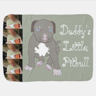 Deken van het Baby Pitbull van de papa Weinig Inbakerdoek