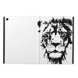 Dekking met zwart-witte drukLeeuw iPad Air Hoesje