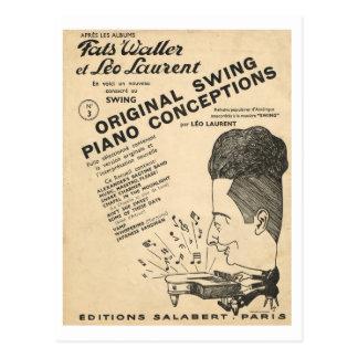 Dekking van Fats Waller, de Originele Concepties Briefkaart