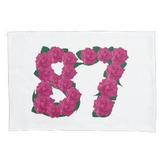 dekking van het 87 de roze bloemenhoofdkussen van kussensloop