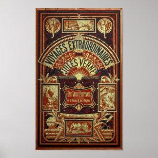 Dekking van het Boek van Jules Verne de Oude Poster