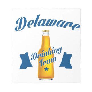 Delaware die team drink kladblok
