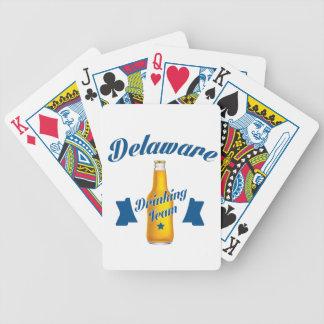 Delaware die team drink poker kaarten