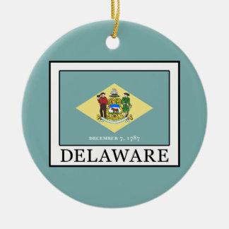 Delaware Rond Keramisch Ornament