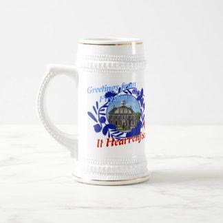 Delft Blauwe Fryslân het de Stenen bierkroes van Bierpul
