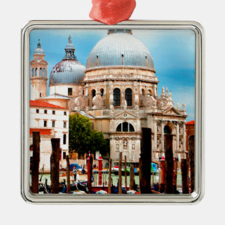 DellaBegroeting van Santa Maria Zilverkleurig Vierkant Ornament