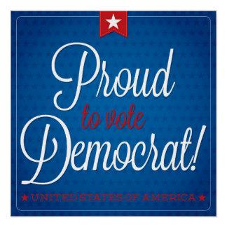 Democraat Perfect Poster