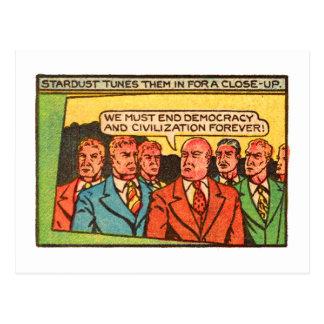 Democratie van het Eind van de Kerels van de Briefkaart