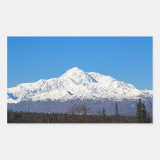 Denali mountains7 rechthoekige sticker