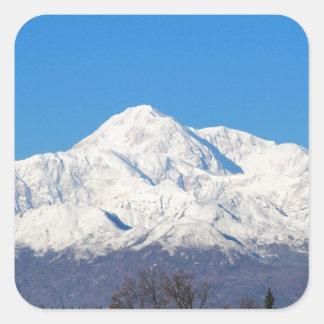 Denali mountains7 vierkante sticker