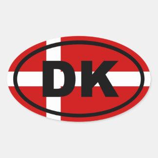 Denemarken - Europees DK - Ovaalvormige Sticker