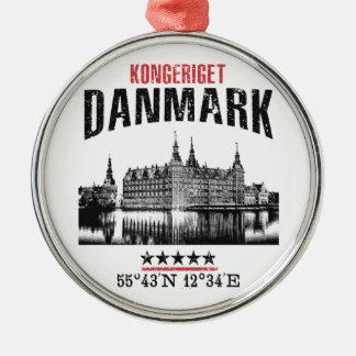 Denemarken Zilverkleurig Rond Ornament