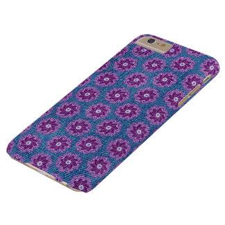 Denim & bloemen purper blauw hoesje iphone5