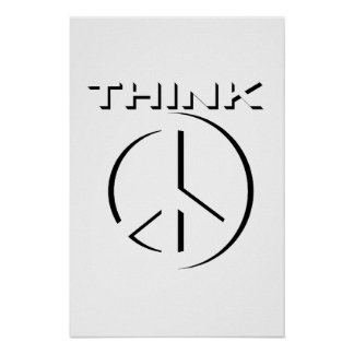 """DENK"" 24x36- Poster (Vrede)"