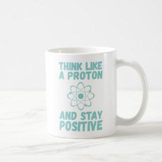 Denk als Proton Koffiemok