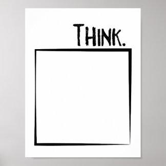 Denk buiten de Letterlijke Typografie van de Doos Poster
