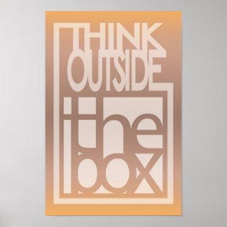 Denk buiten het ontwerp van het dooscitaat poster