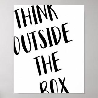 Denk buiten het Poster van het Vakje